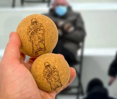 rawlogy cork massage ball bernie ball