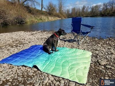 Rumply NanoLoft Puffy Blanket Dog