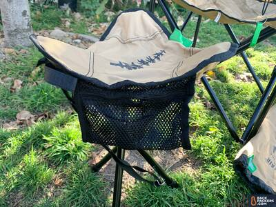 Travelchair-Recycled-Line-stool-close-up-with-mesh-pouch