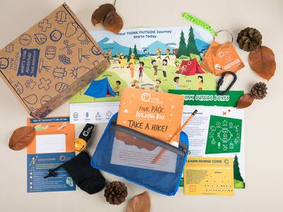ThinkOutside's intro box is packed with outdoor gear for kids