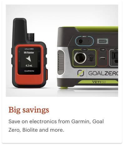 REI Anniversary Sale Electronics