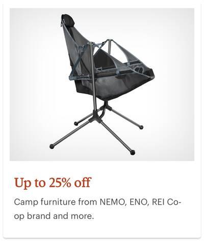 REI Anniversary Sale Camp Furniture