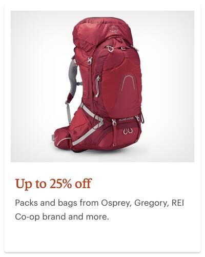 REI Anniversary Sale Backpacks