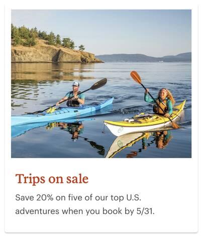 REI Anniversary Sale Adventure Trips