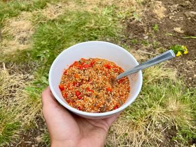 Bushka's Kitchen Unstuffed Pepper Cooked